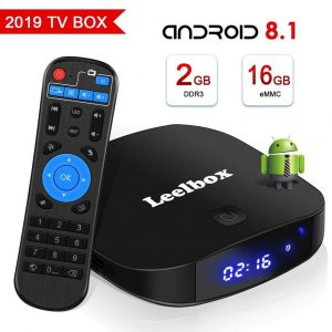 Android TV box con Micro SD