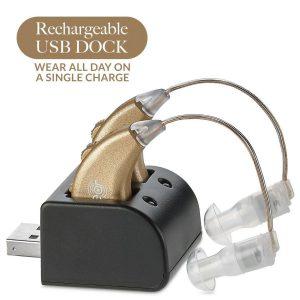 Audífono digital dorado