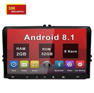 Autoradio 2 DIN 2GB+32GB con pantalla táctil