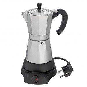Cafetera italiana eléctrica en plata