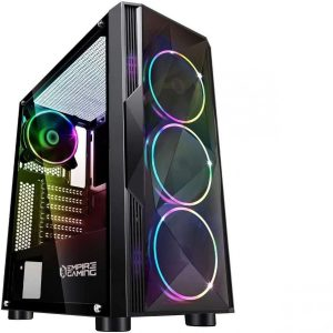 Caja para PC gaming con ventiladores LED
