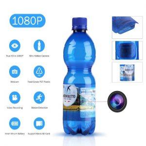 Cámara espía en botella de agua