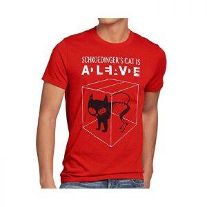 Camiseta para hombre gato de Schrodinger