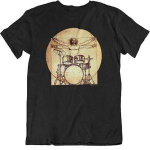 Camiseta unisex graciosa batería