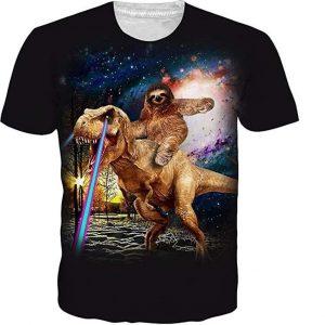 Camiseta unisex graciosa con dinosaurio