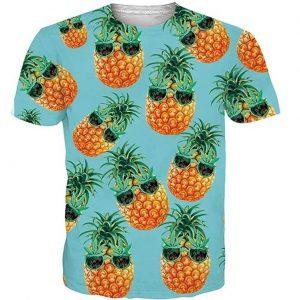 Camiseta unisex graciosa con piñas