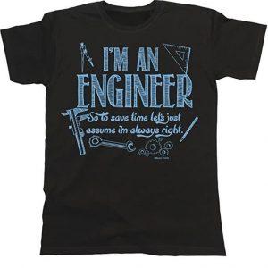 Camiseta unisex graciosa ingenier@