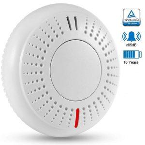 Detector de incendio con botón grande