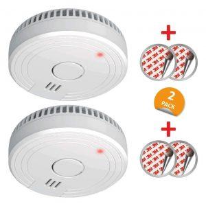 Detector de incendio con sensor de humo óptico