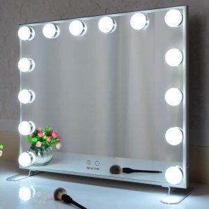 Espejo con luz LED inteligente
