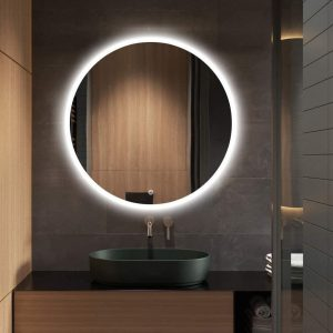 Espejo con luz LED y altavoz bluetooh
