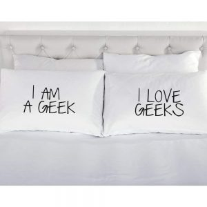 Fundas de almohada para parejas geeks