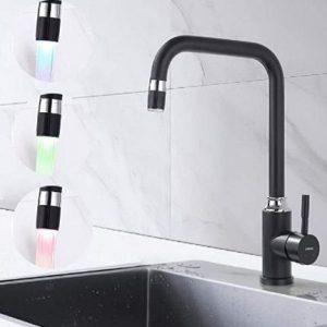 Grifo de cocina con luz LED con aireador Lonheo