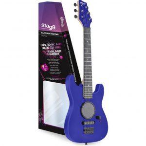 Guitarra eléctrica para niños en color azul