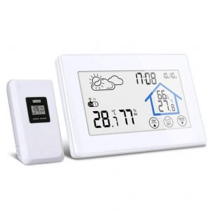 Higrómetro digital con sensor inalámbrico