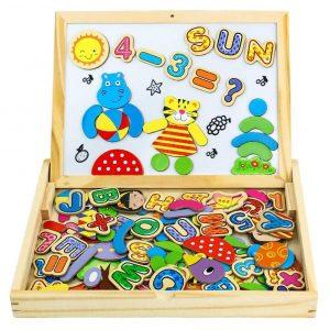 Juguete magnético para niños de letras
