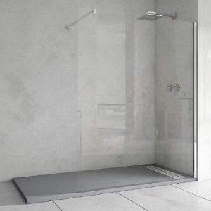 Mampara de ducha fija antical