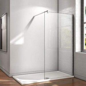 Mampara de ducha fija de cristal templado