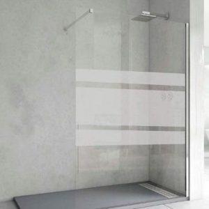Mampara de ducha fija serigrafiada