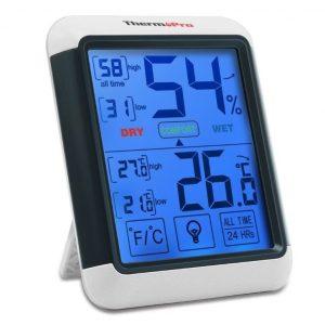 Medidor de temperatura y humedad de interior