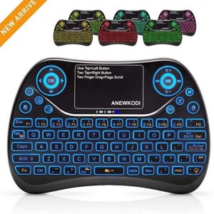 Mini teclado gaming inalámbrico con touchpad