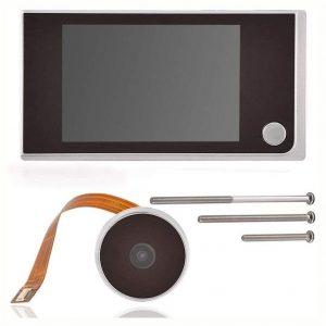 Mirilla digital con grabadora gran angular