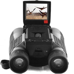 Prismáticos con cámara con pantalla LCD