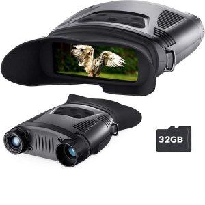 Prismáticos con cámara y LED infrarrojo