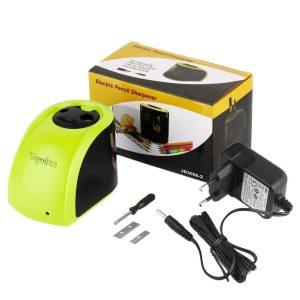 Sacapuntas eléctrico con batería y dos tamaños