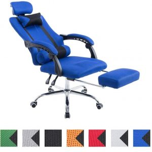 Silla gaming con reposapiés colorida