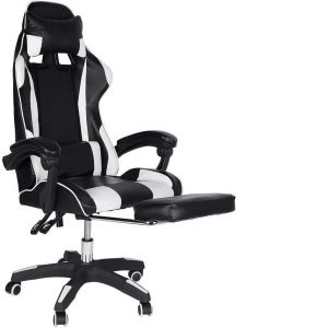 Silla gaming con reposapiés robusta