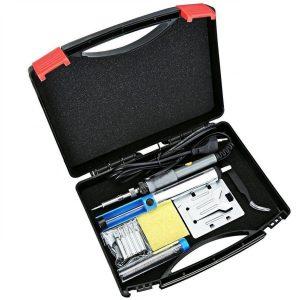 Soldador eléctrico con caja de herramientas