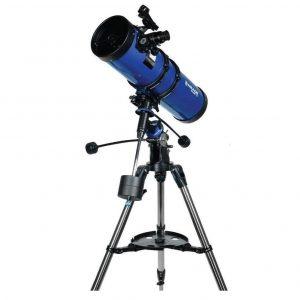 Telescopio astronómico azul