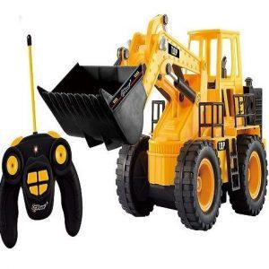 Tractor radiocontrol Top Race de construcción amarillo
