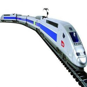 Tren eléctrico Mehano Tgv con paisaje