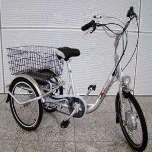Triciclo eléctrico xGerman con bandeja trasera