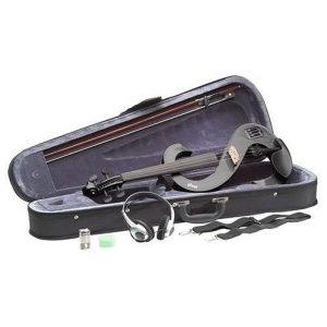 Violín eléctrico en color negro